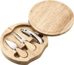 4-delige set: kaasmes en vork, kelnermes + snijbord