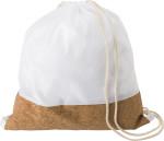 Rucksack aus RPET und Kork mit Kordelzug