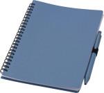 Notizbuch und Kugelschreiber aus Weizenstroh