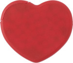 Heart shaped plastic mint card