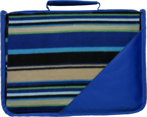 Fleece deken met draagband 9-999999   relatiegeschenk