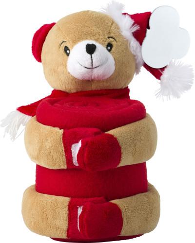 Kerstknuffel met fleecedeken 2532-009999207   groothandel