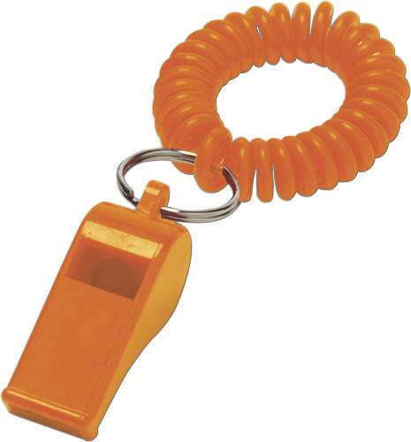 Fluitje polsband oranje | relatiegeschenk