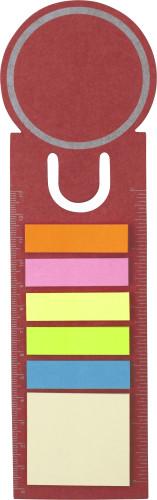 Boekenlegger met memostickers rood | relatiegeschenk