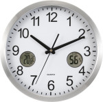 Reloj de pared en plástico de 12 pulgadas