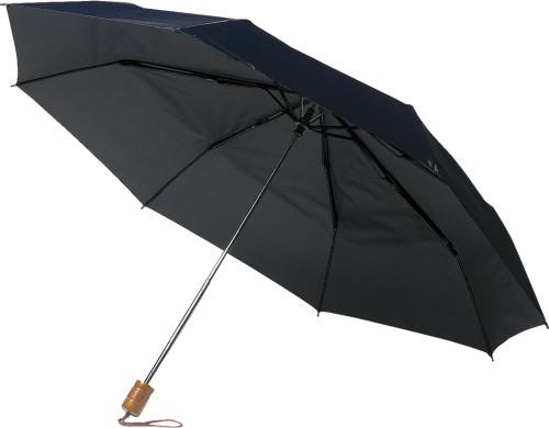 Opvouwbare paraplu blauw | met opdruk