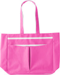 Polyester (600D) bright coloured beach bag.