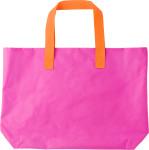 Polyester (600D) bright coloured beach bag.