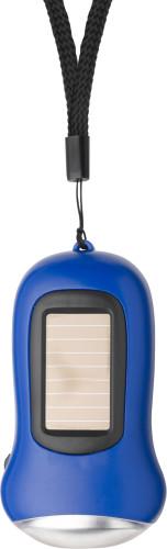 Dynamo/solar zaklamp blauw | bedrukken