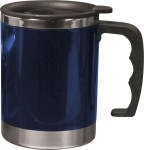 Taza termo, doble pared, acero inox. y AS