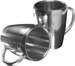 Set of two steel mugs (200ml)
