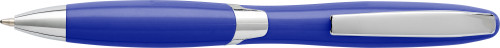 Plastic ballpen with solid colour barrel