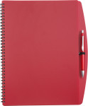 PP notebook with ballpen