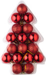 Set of 17 small plastic Christmas balls