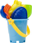 Mini beach bucket in four colours.