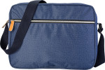Polyester laptop bag in denim look