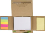 Set memo in cartone, include memo stick in vari colori