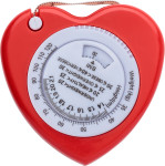 Plastic, 1.5m, heart shaped, BMI tape measure