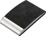PU and stainless steel business card holder