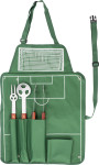 Nylon (600D) apron with barbecue set
