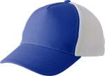 Gorra de 5 paneles con malla blanca