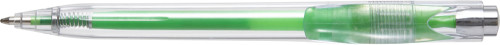 Plastic transparent ballpen with coloured refill