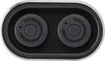 Powerbank 'Listen Up' mit zwei Wireless Kopfhörern