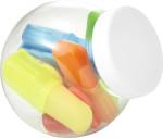 Kunststoff-Gefäß 'Sweets' mit Textmarkern