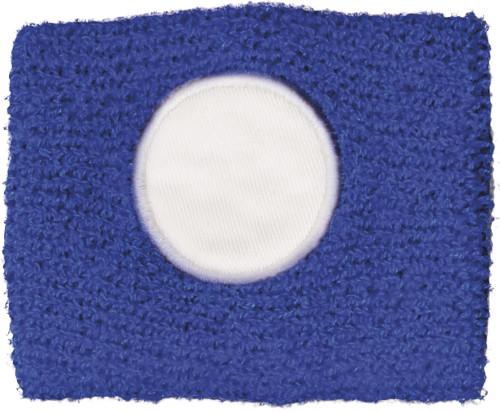Katoenen zweetbandje een wit rond vlak. blauw