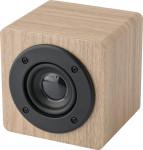 Wireless Lautsprecher 'Kubus' aus Holz