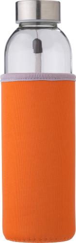 Glass bottle (500 ml) with neoprene sleeve